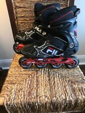 Fila Legacy Pro 84 Inline Skates men's size 10 black and red