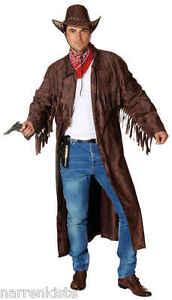 Cowboy Wilder Westen Country Trapper Kostüm Mantel Jacke Weste Hemd Herren Hut