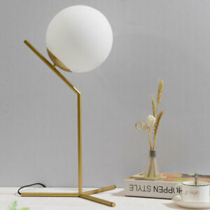 Nordic Glass Ball Table Lamps for Bedroom Led Stand Light Desk Lamp Home Decor