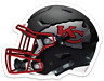 Kansas City Chiefs Football Helmet w/ KC Tomahawk logo MAGNET