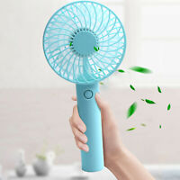 Mini Portable Hand held Desk Fan Cooler Cooling USB Rechargeable Air Conditioner