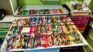 Huge Lot DMC embroidery threads 200+