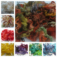 Heidifeathers® Dyed Curly Wool, Curly Locks - For Wet and Needle Felting