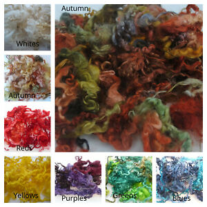 Heidifeathers® Dyed Curly Wool, Curly Locks - For Wet, Needle Felting, Spinning
