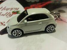 2013 '14 '15 FIAT 500 WHITE CUSTOM ~ KeY RiNg~ KeY ChAin~ CHAIN PULL~NEW ITEM!
