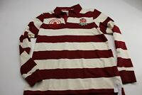 MINT England Rugby Official Long Sleeve POLO SHIRT Small S