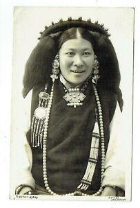 China Tibet Ethnic postcard  Tibetan Lady