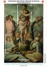 2011 S.M.O.M. SMOM Quadri Vasari Foglietti MNH**