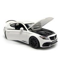 1:32 C63S AMG Metall Die Cast Modellauto Spielzeug Pull Back Weiß