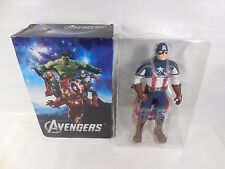 "RARE MARVEL AVENGERS MOVIE CAPTAIN AMERICA 15"" ACTION FIGURE W/BOX HASBRO 2013"