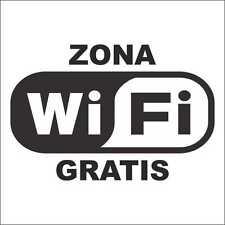 "Vinilo adhesivo, sticker, decal vinyl, aufkleber  ""ZONA WIFI GRATIS"" 04"