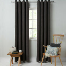 John Lewis Hatch Chenille Eyelet Lined Curtains Grey 228 X 137 Cm