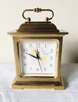 Seth Thomas Solid Brass Alarm Clock PRECIOUS MOMENTS #4RE461 Quartz Japan WORKS