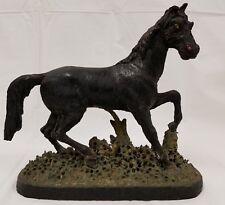 Antique Hand Carved Wood Horse Sculpture