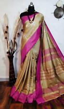 Jute Silk Fabric Indian Designer Wedding Wear Saree Ethnic Wear Saree I-2-3