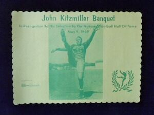 >Rare 1969 Oregon Ducks Football **JOHNNY KITZMILLER BANQUET PLACEMAT**