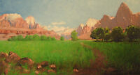 "perfect 48x24 oil painting handpainted on canvas""landscape""NO4165"