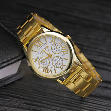 NEW Fashion Geneva Women Stainless steel Watch Leisure Ladies quartz wristwatch