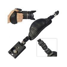 Professional DSLR Camera Wrist Grip black genuine leather hand Strap for Canon