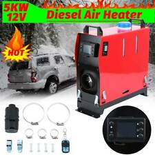 5KW 12V Diesel Air Heater LCD Thermostat Remote Control Truck Bus Motorhome