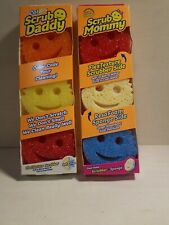 Scrub Mommy & Daddy Dual Sided Scrubber And Sponge 3 Pack x 2