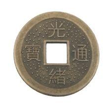 Chinesische Glücks Münze 10St. ca23 mm Feng Shui Amulett 13,3g``Mineralien Stein