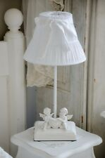 Clayre /& Eef Lampenfuß Tischlampe Grau Romantisch Relief Shabby Vintage E 27 NEU