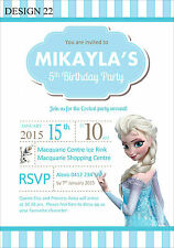 Frozen Personalised Invitations Cards Invites Party Supplies Elsa Many Designs