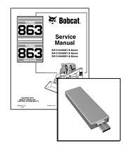 Bobcat 863 Turbo, 863 Turbo Highflow Repair Service Manual USB Stick + Download