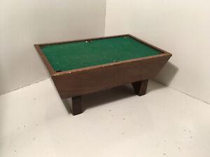 Vintage Dollhouse Miniatures Price Wooden Pool Table #5