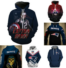 New England Patriots Hoodie Pullover Loose Hooded Sweatshirt Sport Casual Jacket