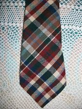 ROOSTER Ruffler Collection Wool Plaid Neck Tie