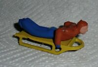 """VINTAGE LEAD RARE BARCLAY """"MAN ON SLED, IN RED & BLUE"""" B192 Near Mint F/S Lot B"""