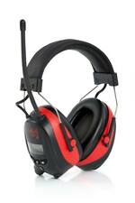 SKS 1180 Kapselgehörschutz rot schwarz Radio Digital AM FM + MP3 SNR 25 dBA
