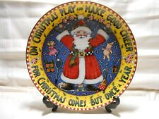 """Mary Engelbreit Danbury Mint """"Christmas Comes But Once a Year """" 1 Plate 8"""" w2s7"""
