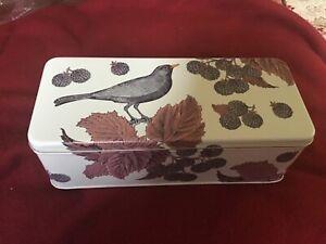 Thornback and Peel hinged liddedTin, Blackbird and Blackberry, , 24x10x7cms