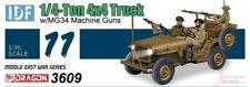 1/35 Six Day War IDF 1/4 Ton 4x4 Jeep with MG34 guns model kit by Dragon