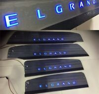 Brand new luxury Elgrand E51 LED light up door scuff plates for nissan Elgrand