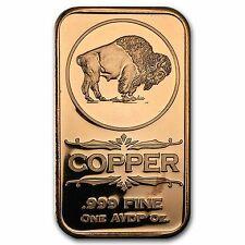 Lot of 100 - 1 oz Copper Bars Buffalo Nickel