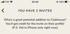 Clubhouse App Ios Invito Invite Invitation, Immediate Activation, Check My Feed