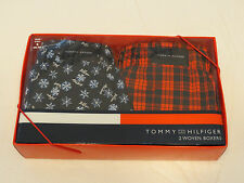 Men's Tommy Hilfiger TH boxer shorts 2 pack cotton Woven Boxers 107709 S 28-30