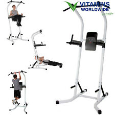 POWER TOWER WORKOUT Dip Station Pull Up Rack Home Gym Training Stand Machine