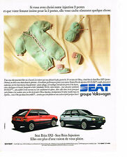PUBLICITE ADVERTISING 074  1990   SEAT IBIZA  SXI ijection