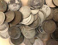 LOT OF 10 - Seated HALF Dimes CULL Condition - 90% Silver $0.50 Face 50c