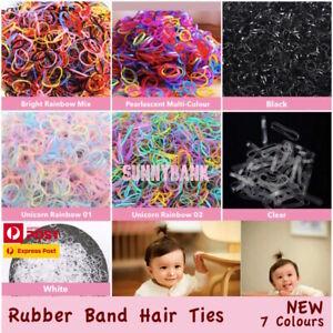 400+pcs Colorful Black Ponytail Holder Elastic Rubber Band Hair Ties Ropes Rings