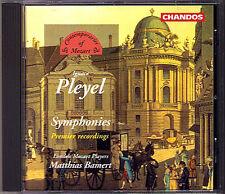 Ignace Joseph pleyel 3 symphony Matthias Bamert CD Chandos 1997 symphonies
