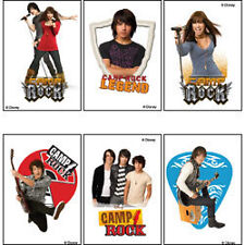 CAMP ROCK 12 Temporary Tattoos DEMI LOVITO JOE JONAS