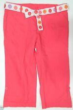 NWOT GYMBOREE girls Bright Pink Capri Crop PANTS* Flower Belt* 10 Plus NEW