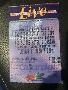 David Cassidy sheena Easton Vegas concert Ticket 90s