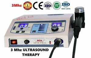 Physiotherapy 3 Mhz Pain Relief Deep heat therapy Ultrasonic For Chiropractic @!